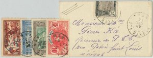 44832 - IVORY COAST Côte d'Ivoire - POSTAL HISTORY: SMALL COVER to SENEGAL 1929