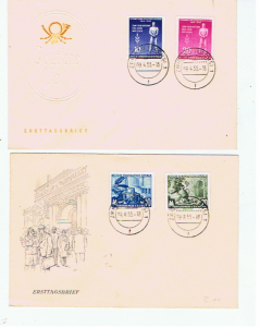 EAST GERMANY 1950's  FDC's