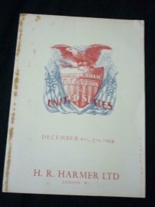 HARMERS AUCTION CATALOGUE 1954 THE JAMES DURHAM COLLECTION OF UNITED STATES