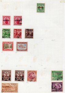 Samoa small collection on page