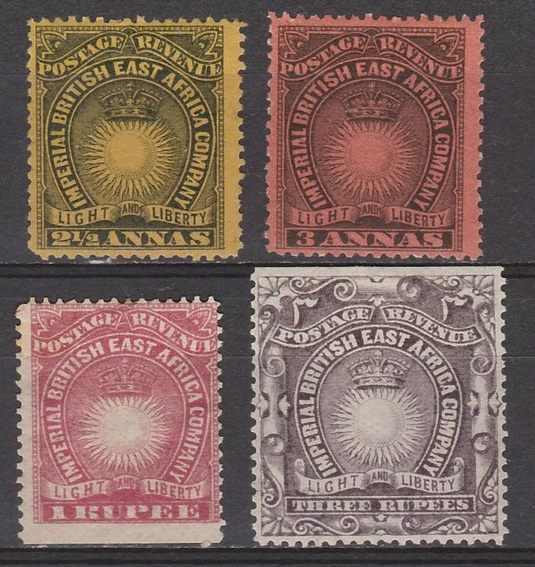 BRITISH EAST AFRICA 1890 LIGHT AND LIBERTY RANGE TO 3R