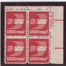 SCOTT # C79 AIR MAIL PLATE BLOCK MINT NEVER HINGED GEMS !!