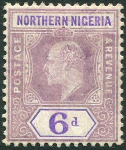 NORTHERN NIGERIA-1906 6d Dull Purple & Violet (Chalk Surfaced Paper) Sg 25a M/M