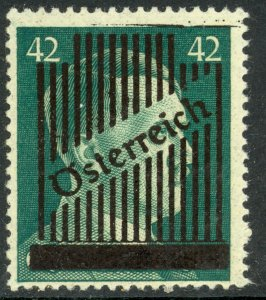 AUSTRIA 1945 42pf Obliterated Hitler Head Issue Sc 404 MH