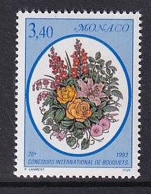 Monaco  #1848   MNH  1993  flower show  mixed bouquet