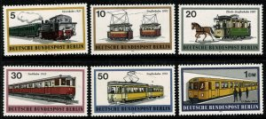 GERMANY BERLIN 1971 RAIL TRANSPORT SET MINT (NH) SG B381-B386 P.14 SUPERB