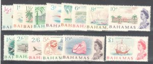 Bahamas #204 to 218 VF NH Compete set