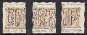 Vatican City   #931a-c  MNH  1993  sarcophagus