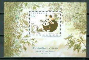 AUSTRALIA WILDLIFE  PANDAS #1459d..SOUV. SHEET...MNH...$2.25