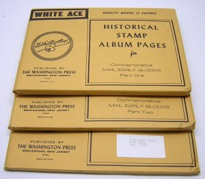 WHITE ACE: Mail Early Blocks Pages 1968 to 1977 COMPLETE - NEW/NO STAMPS