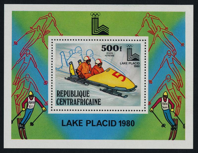 Central Africa C220 MNH Winter Olympics, Bobsled