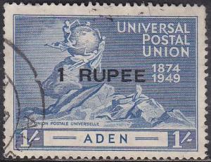 Aden 35 Hinged Used 1949 UPU Issue [CD309] O/P