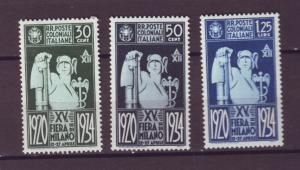 J21513 Jlstamps various 1934 italy colonies part of set mh #43-5 mercury