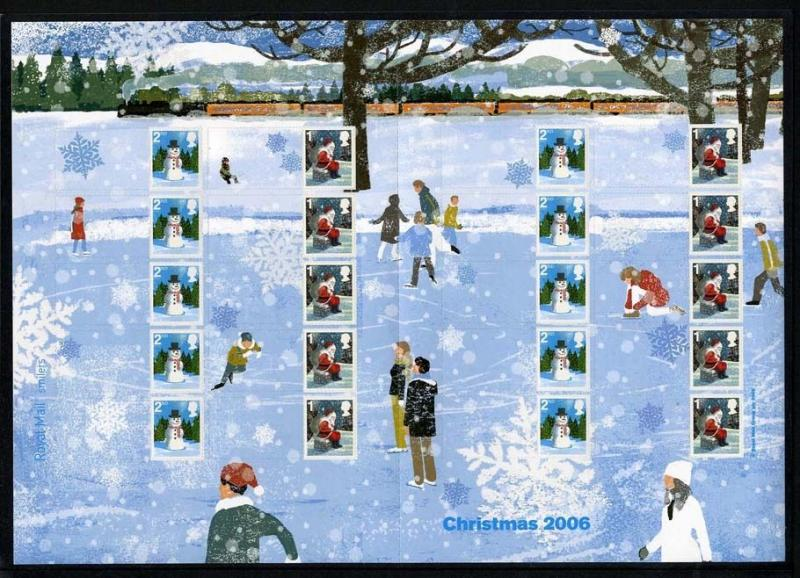 GB QEII Smiler  2006 LS34 CHRISTMAS,1st, 2nd class Decimal   IN MNH CONDITION.
