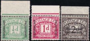 Bechuanaland 1926 SC J1-J3 MNH Set