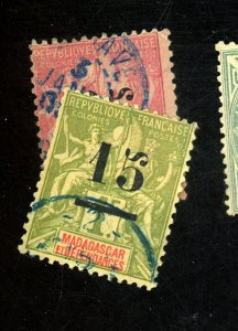Madagascar #48,50 Used Fine Cat$15