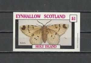 Eynhallow, 1982 Scotland Local issue. Butterfly s/sheet. E10