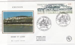 France 1993 Chinon Commune Slogan Cancels  Picture + Stamp FDC Cover Ref 31652