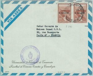 85974 - ARGENTINA - Postal History  OFFICIAL STAMPS on COVER to FRANCE 1960's