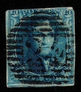 1849 King Leopold I, 20c, Belgium (TS-279)