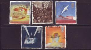 Great Britain Sc 1611-5 1995 World War II stamps used