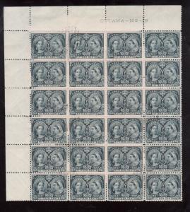 Canada #58 Very Fine Used Plate 18 Upper Left Block Of Twenty Four