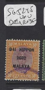 MALAYA JAPANESE OCCUPATION PAHANG  (P0208B)  DN 30C  SG J245  NEI CANCEL   VFU