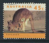 Australia SG 1454  Used  pale orange insc Type I - wildlife Kangaroo