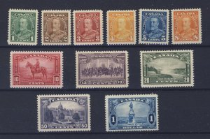 11x Canada Mint Stamps #217 to #222-$1.00 Champlain Guide Value = $140.00