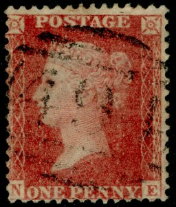 SG40, 1d rose-red PLATE 56, LC14, FINE USED. Cat £18. NE
