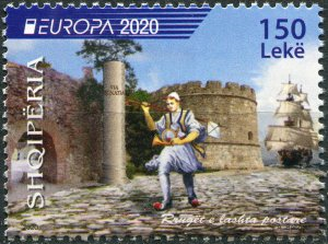 Albania 2020. Ancient postal routes (MNH OG) Stamp