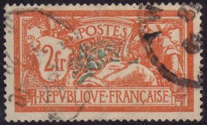 France - 1920 - Scott #127 - used - Liberty and Peace