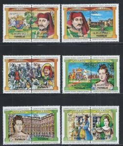 Tuvalu Nukufetau MNH 14-9 Pairs Kings & Queens Of The World 1984