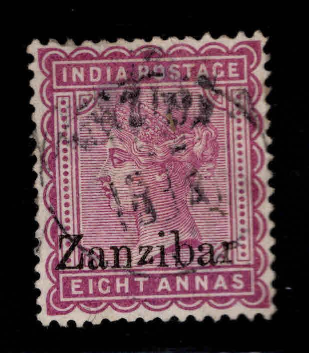 Zanzibar Scott 10 Used  1895 Queen Victoria nicely centered and canceled