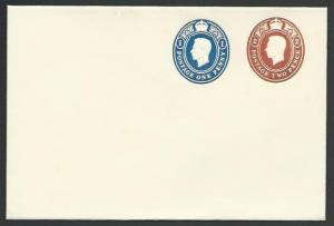 GB GVI Printed to Order envelope 1d + 2d fine unused.......................56403