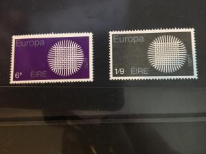Ireland Scott #279-281 Complete Mint Never Hinged Set of Three - VF 1970 Europa