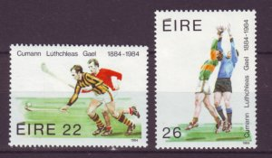 J20765 Jlstamps 1984 ireland 2 sets mh #598-9,600-1 designs 2 scans