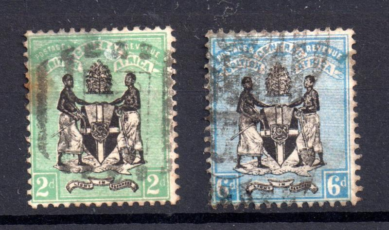 BCA - British Central Africa 1895 2d 6d SG22 SG24 WS6918