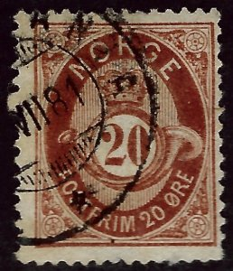 Norway  SC #43 F-VF Used hr Cat $19...Great Value!