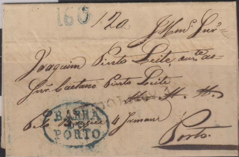 "O)1835 BRAZIL, PRESTAMP COVER ""BAHIA""JUNE 16th via Brigue. """