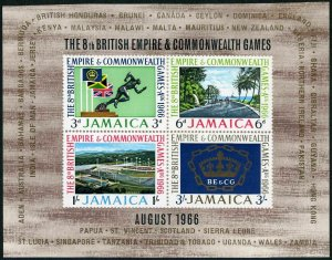 Jamaica 257a sheet,MNH.Michel Bl.3. British Empire & Commonwealth Games,1966.
