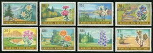 Mongolia 1969 MNH Stamps Scott 534-541 Flowers Nature Landscapes
