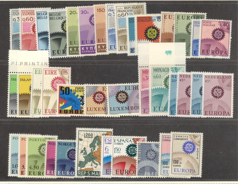 Europa CEPT  1967 complete VF NH  - Lakeshore Philatelics