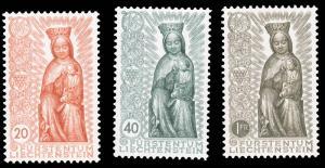 Liechtenstein 1954 MADONNA IN WOOD SET MNH #284-286 with beautiful color ex P...