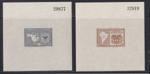 Colombia #  560 & C150, Map of South America, Souvenir Sheets, NH, 1/2 Cat.