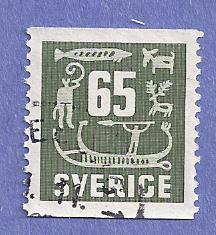 Sweden Scott #470 Rock Carvings, CV $.20, Used