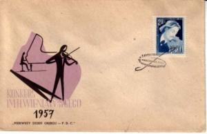Poland, Worldwide First Day Cover, Music