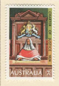AUSTRALIA Scott 589 MH* 1974 Supreme Court stamp