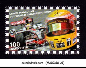 AUSTRIA - 2009 LEWIS HAMILTON FORMULA 1 CHAMPION GRAND PRIX 1V MNH