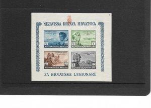 Croatia Lot 2: Semi -Postal Souvenir Sheet, B37, Imperf